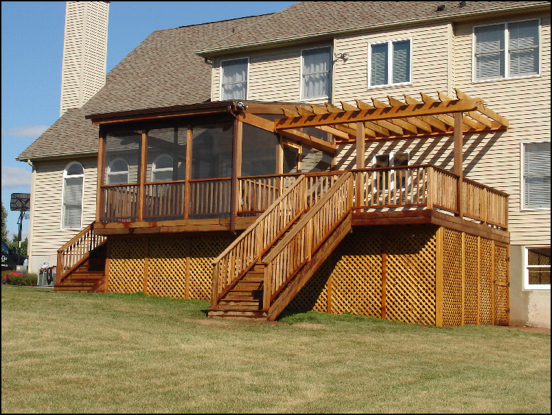 how to build an enclosed deck