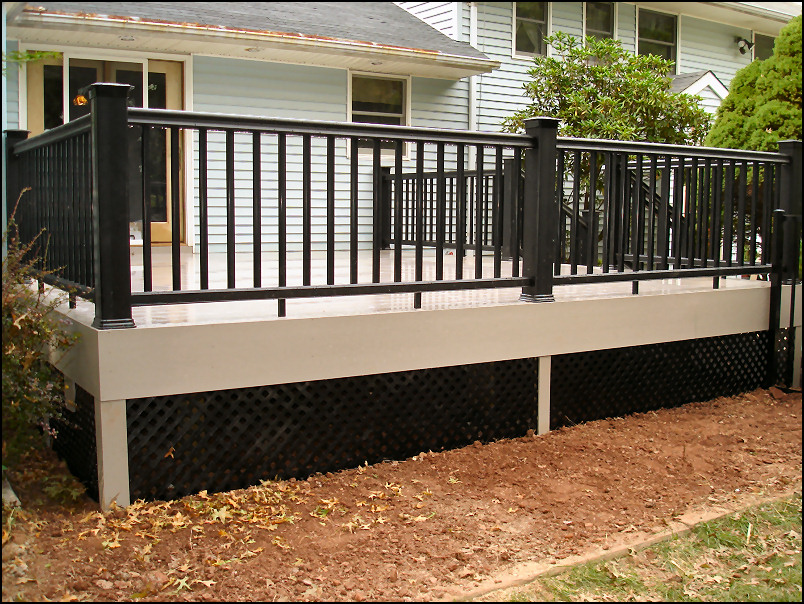 Piscataway Nj Azek Deck With Timbertech Black Radiance