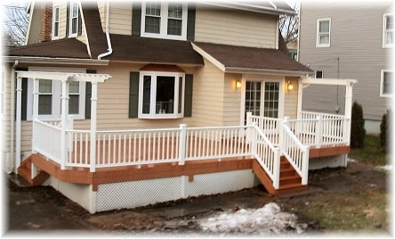 Westfield NJ Trex Composite Deck With Monarch White